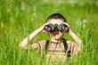 Kid with binocular - 15168064