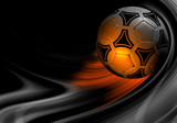 beautiful colour background with soccer ball 3D render