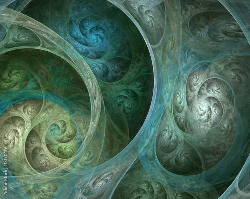 Foto op Plexiglas Fractal waves Complicated fractal spiral
