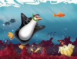 Penguin Diving-