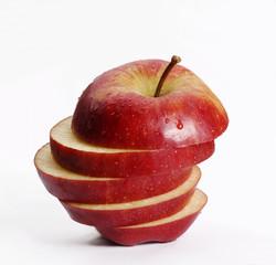 Manzana cortada.