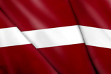Flag of Latvia poster