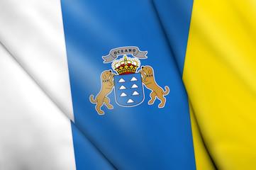 Flag of Canary Islands (SPAIN)