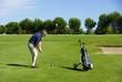 Golfspieler ,Golfplatz Carcassonne/Frankreich
