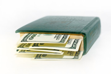 Green money lying in the green book