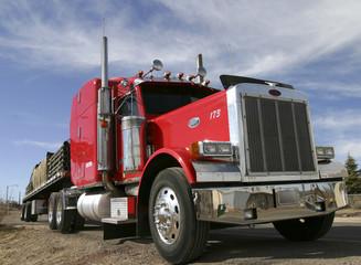 Roter Amerikanischer Truck
