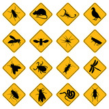 rodent and pest signs poster
