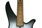 Fragment of black Bass Electric Guitar With Four Strings poster