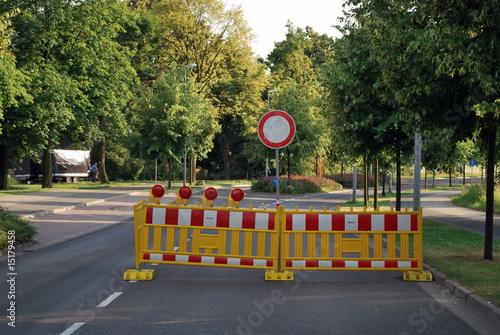 Poster Sperrung einer Bundesstraße