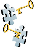 Key to unlock the lock and solve Jigsaw Puzzle poster