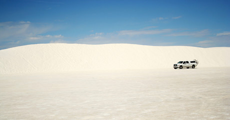 A Truck in White Sands National Monument