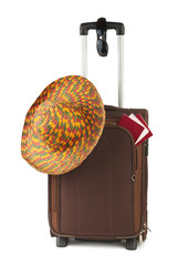 Travel case, hat and sunglasses