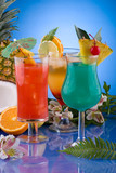 Most popular cocktails series - Mai Tai, Blue Hawaiian and Hurri poster
