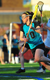 Lacrosse player running poster
