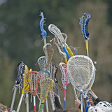 Lacrosse sticks to the sky poster