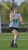 Girls lacrosse player 2 poster
