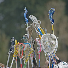 Lacrosse sticks to the sky