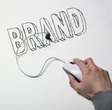 main souris connexion usb brand poster