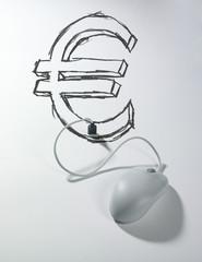 souris connectée usb sigle euro