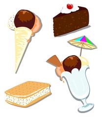 Misto dolci e gelati