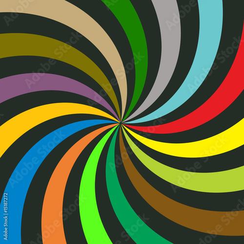vector spiral sunburst