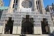 échafaudage façade cathédrale