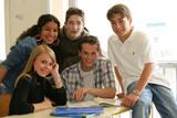 élèves en classe poster