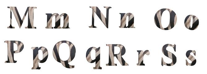 Alphabet Zebre
