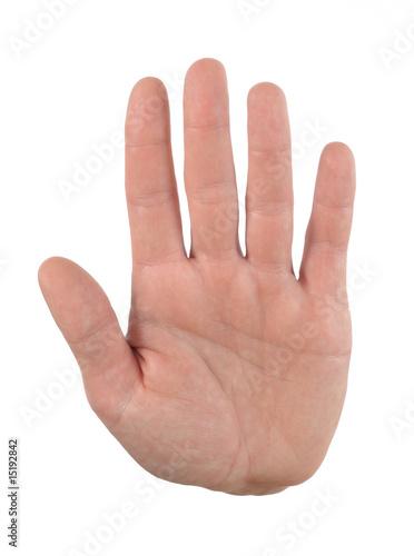 hand handinnenfläche stop