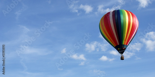 Aluminium Ballon ciel et couleurs