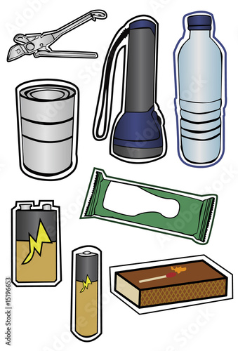 Collection of Hurricane Preparation Items