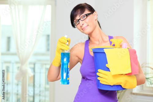 putzfrau hausfrau beim putzen von detailblick. Black Bedroom Furniture Sets. Home Design Ideas
