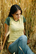 Girl in corm field