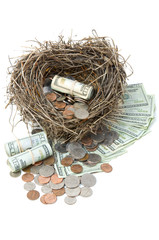 Financial Nest Egg Overflowing