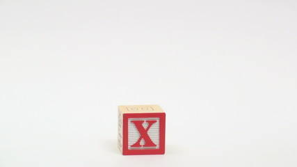 Wooden alphabet blocks spell out TAX