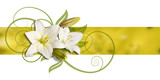 Fototapety decoration of lillies on  banner