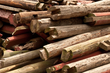 Wood pile nature background