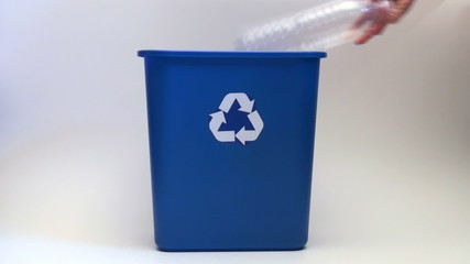 Recycle bin against white - HD