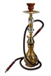 Yellow Hookah on a white background. (isolated),