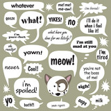 Various phrases in comic balloons 1 poster