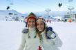 amies à la neige