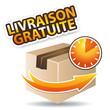 Livraison gratuite icône orange