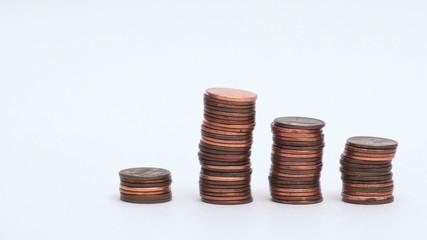 Growing penny stacks - HD