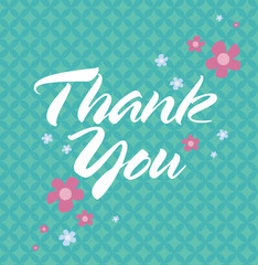 Thank You Card with pattern background