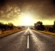 Fototapeta Sundown - Droga - Droga / Autostrada