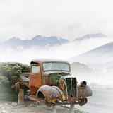 Fototapeta pejzaż - góry - Ciężarówka