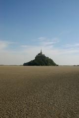 Bassa marea a Mont St. Michel - Normandia - Francia