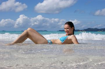Enjoying the sun and water - 2