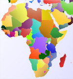 Color Map of Africa