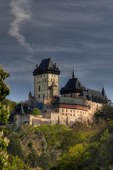 Karlstejn - a large Gothic castle founded 1348  by Charles IV